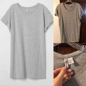 Gray long T-shirt